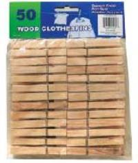 Wood Clothespins 50PC