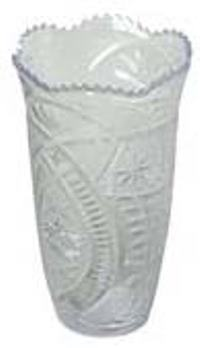 Crystal Cut Vase 4.5 inches dia.x8 inches high