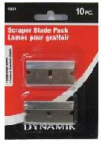 RAZOR SCRAPER BLADE PACK 10PC