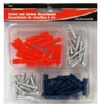 SCREW ANCHOR ASSORTMENT 72PC