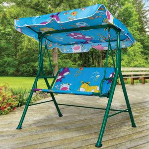 kids canopy swing bench