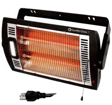 Ceiling Mounted Dual Infrared Quartz Heater