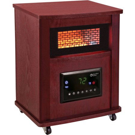 Deluxe Wood Cabinet Style - Infrared Heater Cherry Finish