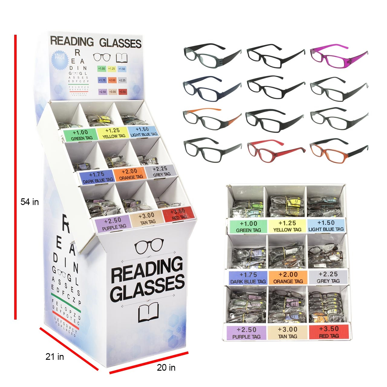 87a656b9616 Cheap Reading Glasses With Display - Wholesale Price-Closeouts