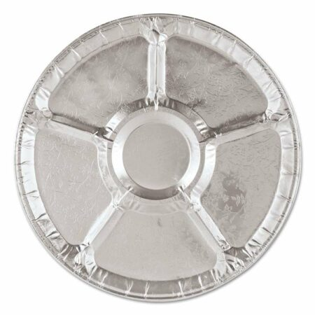 round tray with sections