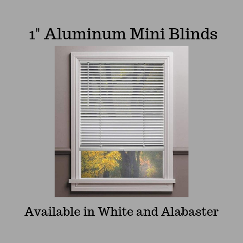 "1"" aluminum cordless mini blinds"