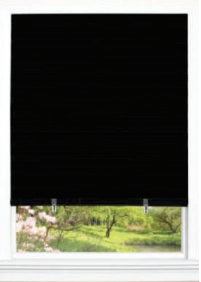 black cordless pleated shades