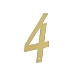 brass plated number 4