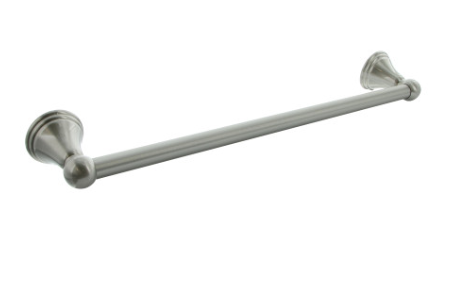 "18"" and 24"" Bell Style - Satin Nickel Finish Towel Bar"