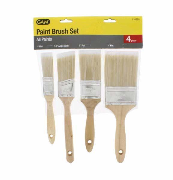 Paint Brush Set, Polyester, 4-Piece, Wholesale Price