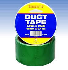 Green Duct Tape, 2 Inch x 10 Yard