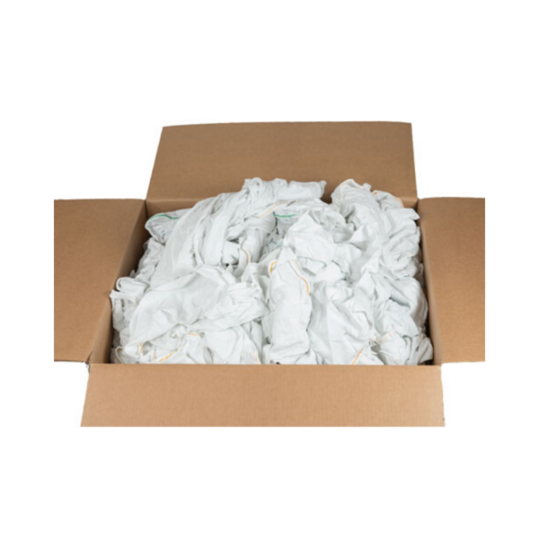 white terry cloth rags